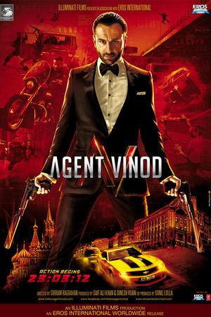 """Poster art for """"Agent Vinod."""""""