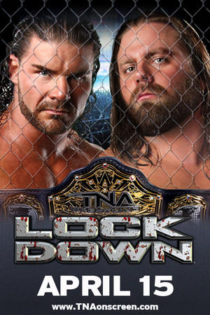 "Poster art for ""TNA Wrestling Lockdown."""