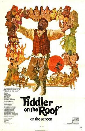 "Poster art for ""Fiddler on the Roof."""