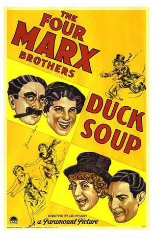 """Poster art for """"Duck Soup."""""""