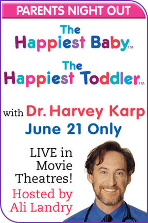 "Poster art for ""Happiest Baby and Happiest Toddler Live With Dr. Karp."""
