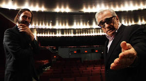"Keanu Reeves and Martin Scorsese in ""Side by Side."""