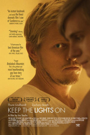"Poster art for ""Keep the Lights On."""