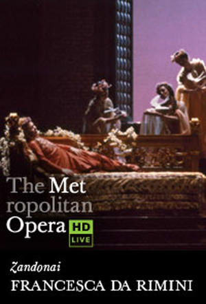 "Poster art for ""The Metropolitan Opera: Francesca da Rimini."""