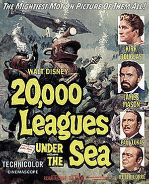 "Poster art for ""20,000 Leagues Under the Sea."""