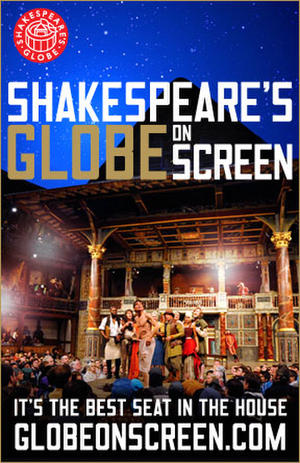 """Poster art for """"Much Ado About Nothing - Shakespeare's Globe on Screen Series."""""""