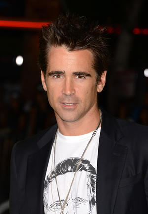 "Colin Farrell at the California premiere of ""Seven Psychopaths."""
