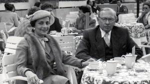 "Gerda and Kurt Tuchler in ""The Flat."""