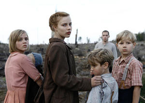 "Nele Trebs as Liesel, Saskia Rosendahl as Lore, Mika Seidel as Jurgen and Andre Frid as Gunther in ""Lore."""