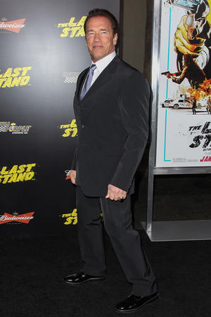 "Arnold Schwarzenegger at the California premiere of ""The Last Stand."""