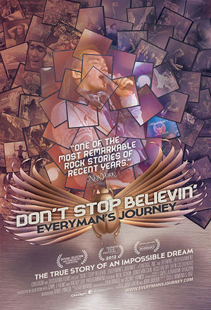 "Poster art for ""Don't Stop Believin': Everyman's Journey."""