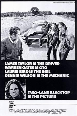 "Poster art for ""Two-Lane Blacktop."""