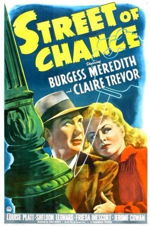 "Poster art for ""Street of Chance."""