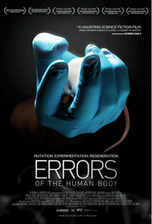 "Poster art for ""Errors of the Human Body."""