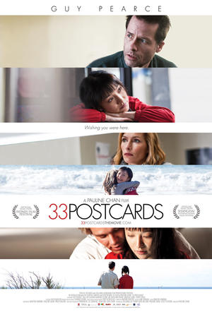 "Poster art for ""33 Postcards."""