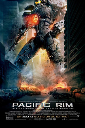 "Poster art for ""Pacific Rim 3D."""
