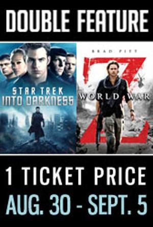 "Poster art for ""Star Trek: Into Darkness / World War Z."""