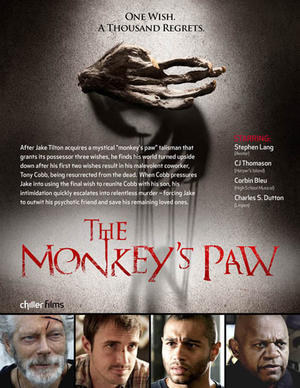 "Poster art for ""The Monkey's Paw."""