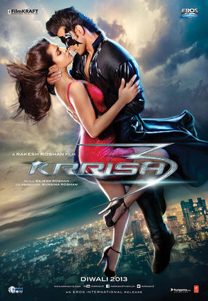 "Poster art for ""Krrish 3."""