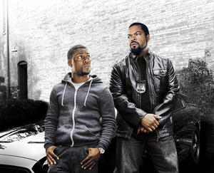 "Kevin Hart and Ice Cube in ""Ride Along."""