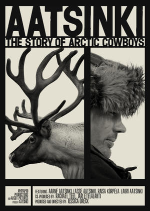 "Poster art for ""Aatsinki: The Story of Arctic Cowboys."""