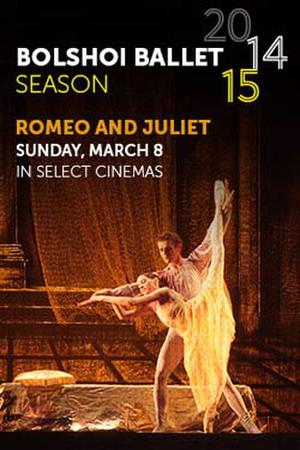 "Poster art for ""Bolshoi Ballet: Romeo and Juliet."""