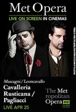 "Poster art for ""The Metropolitan Opera: Cavalleria Rusticana/Paliacci."""