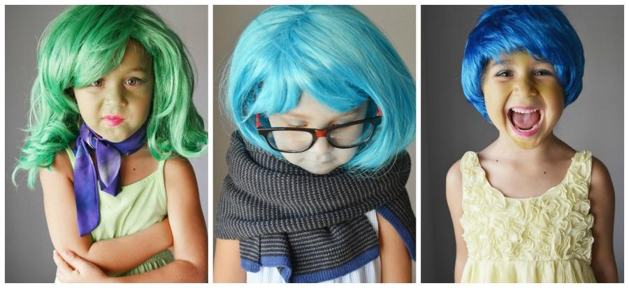 one girl and three inside out halloween costumes - Halloween Costumes Three Girls