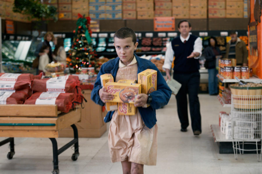 A gift wrapped christmas movie trailer