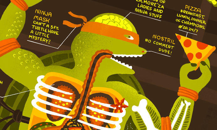 Infographic: The Anatomy of a Ninja Turtle