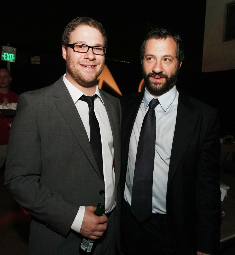 Seth Rogen and Producer Judd Apatow at the after party of the California premiere of
