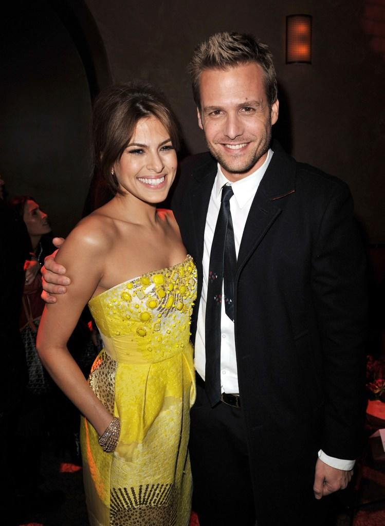 Eva Mendes and Gabriel Macht at the after party of the California premiere of
