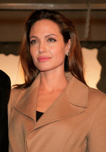 Actress Angelina Jolie at the L.A. premiere of