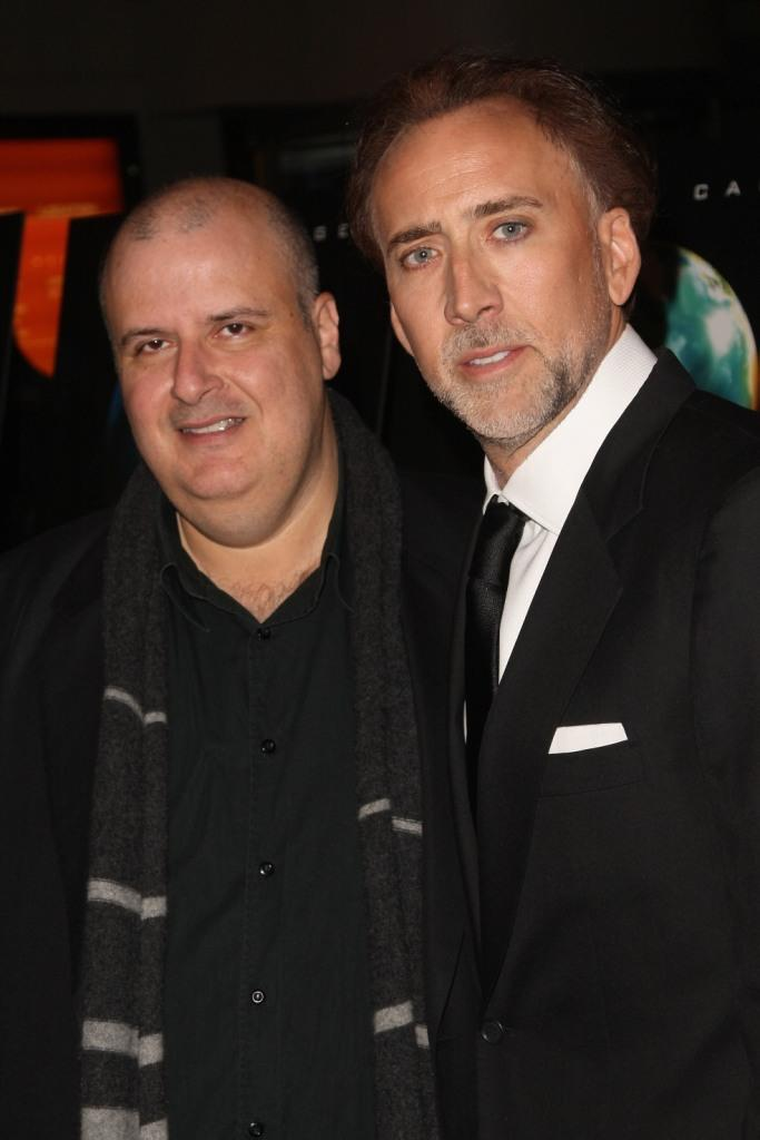 Director Alex Proyas and Nicolas Cage at the New York premiere of