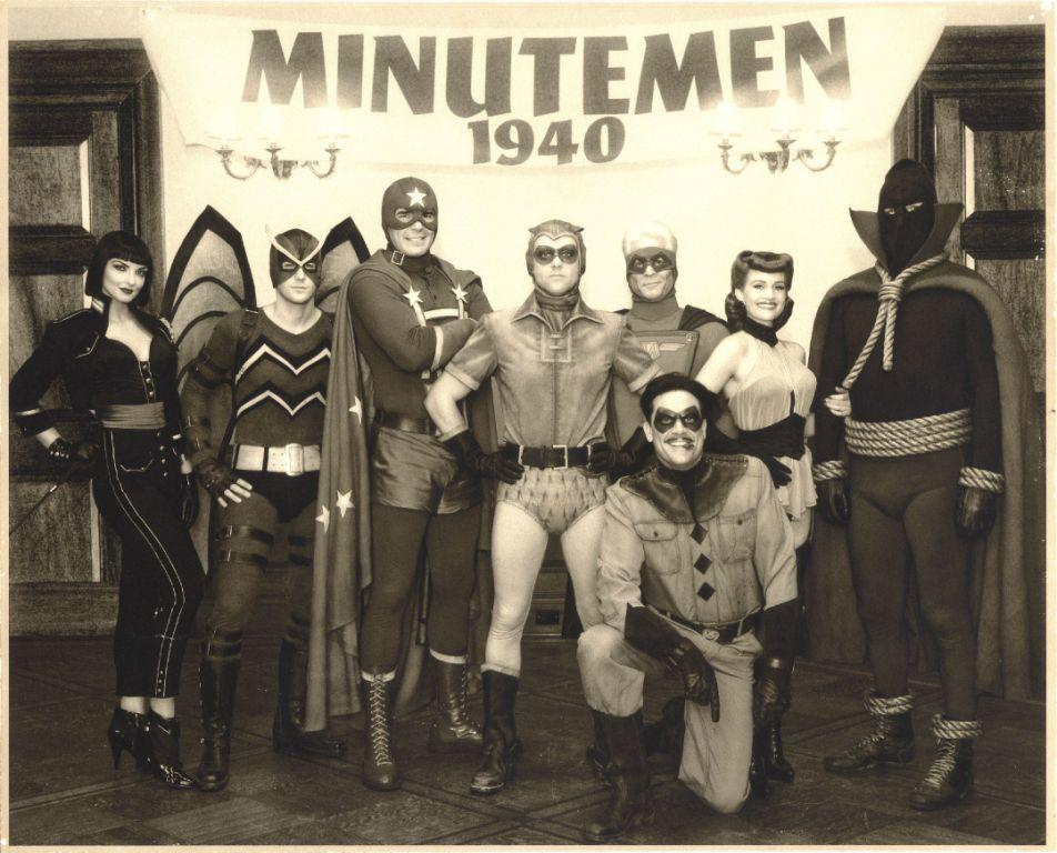 Apollonia Vanova as Silhouette, Niall Mater as Mothman, Dan Payne as Dollar Bill, Clint Carleton as The Original Nite Owl, Daryl Scheeler as Captain Metropolis, Carla Gugino as The Original Silk Spectre, Glenn Ennis as Hooded Justice and Jeffrey Dean Morgan as The Comedian in
