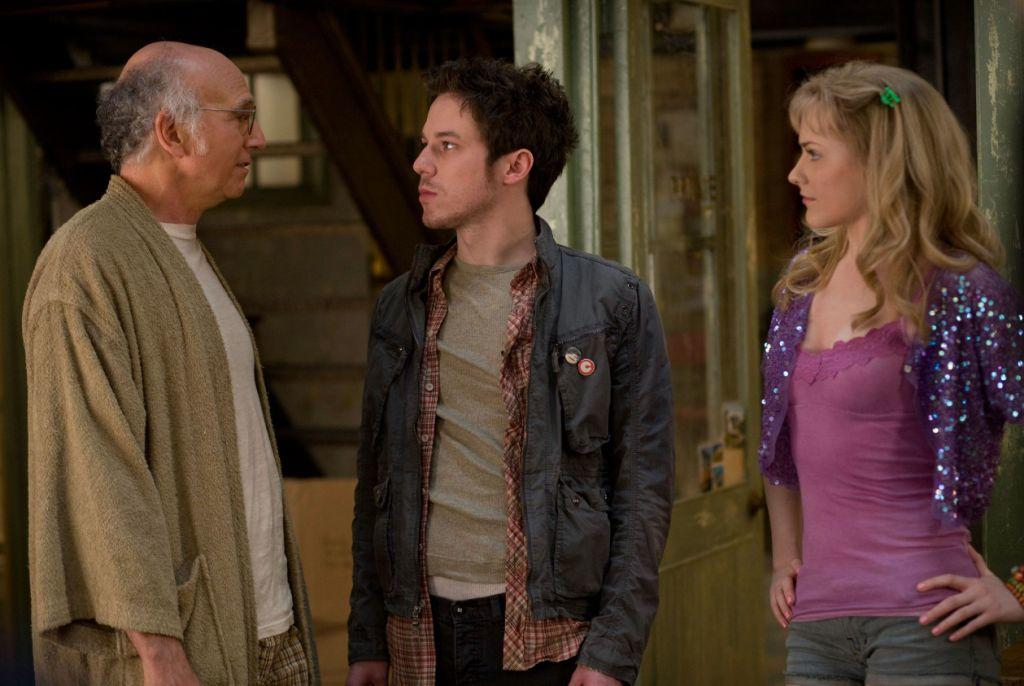 Larry David, John Gallagher Jr. and Evan Rachel Wood in