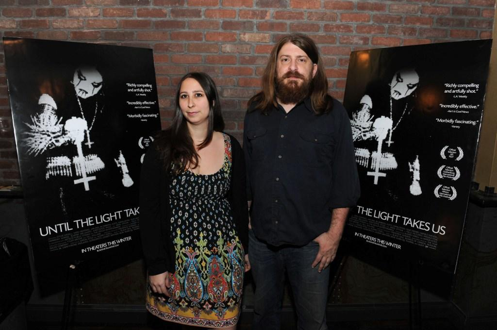 Audrey Ewell and Aaron Aites at the New York premiere of