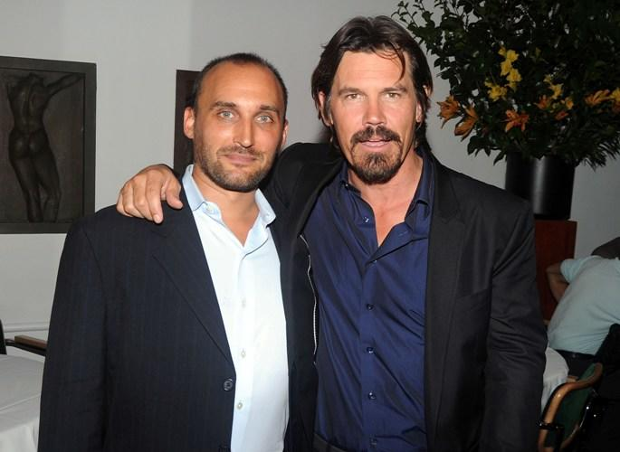 Director Amir Bar-Lev and Josh Brolin at the after party of the New York premiere of