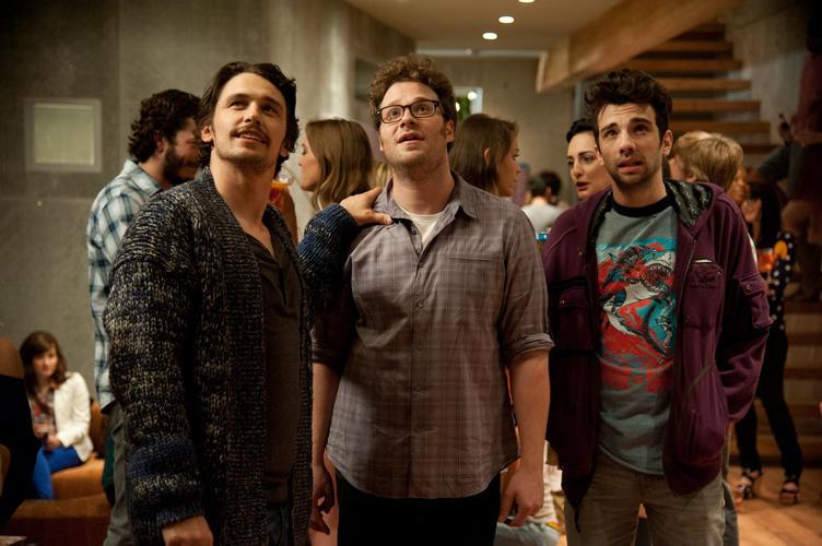 James Franco, Seth Rogen and Jay Baruchel in