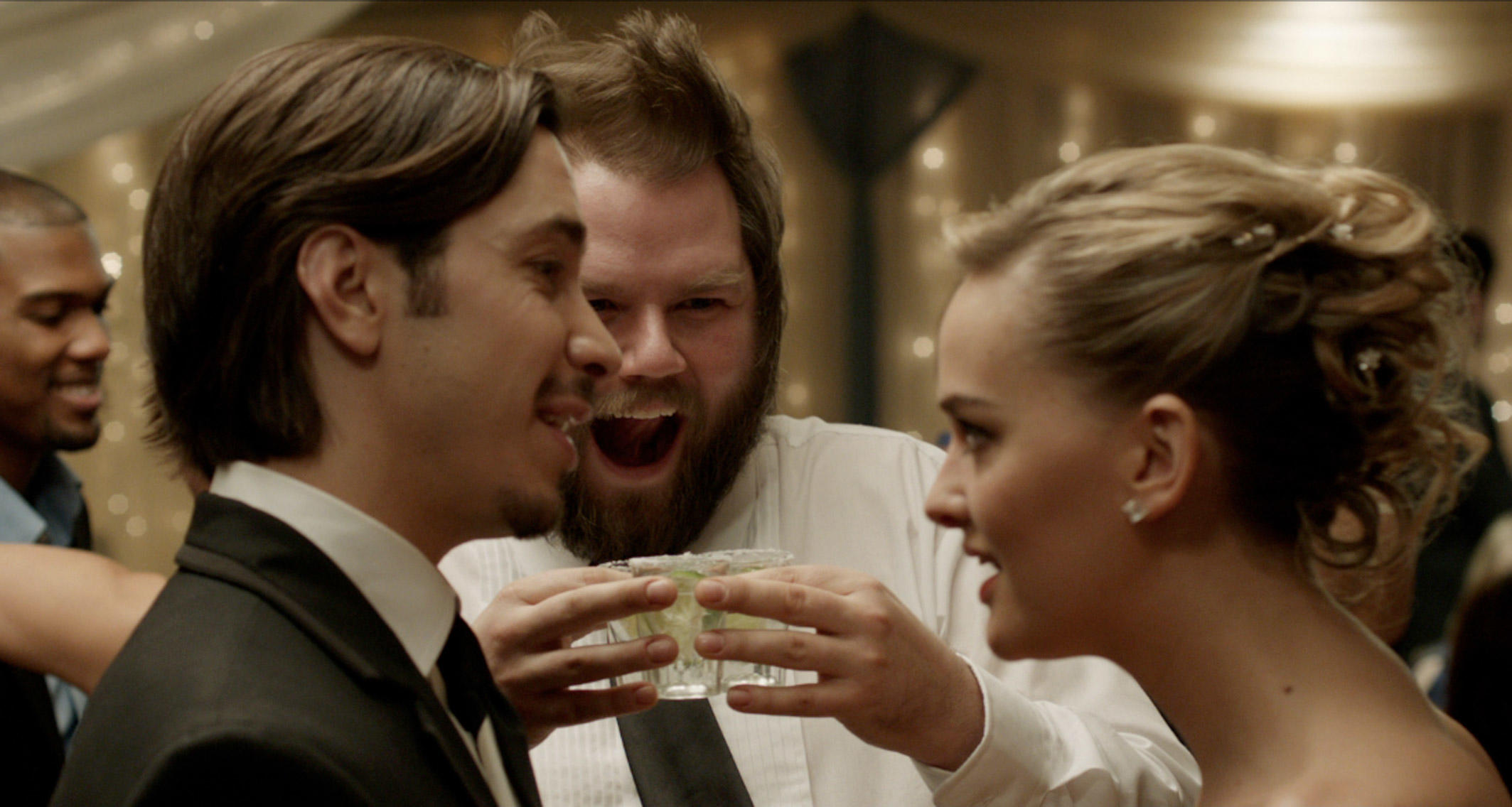 Justin Long, Tyler Labine and Jess Weixler in