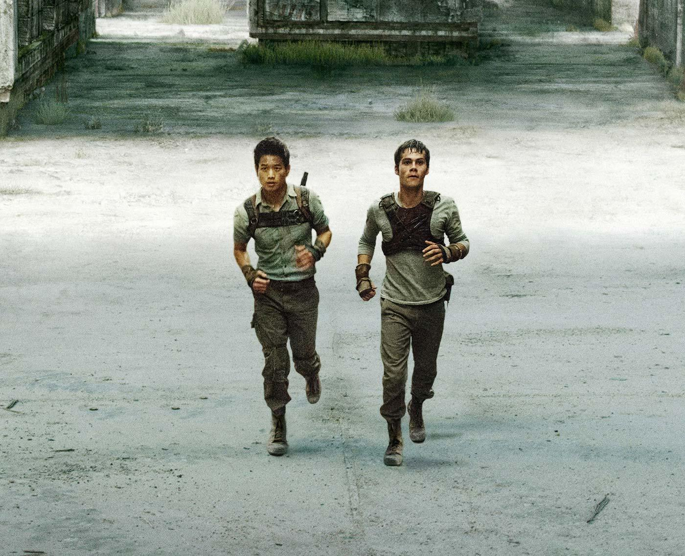 a scene from the Maze Runner