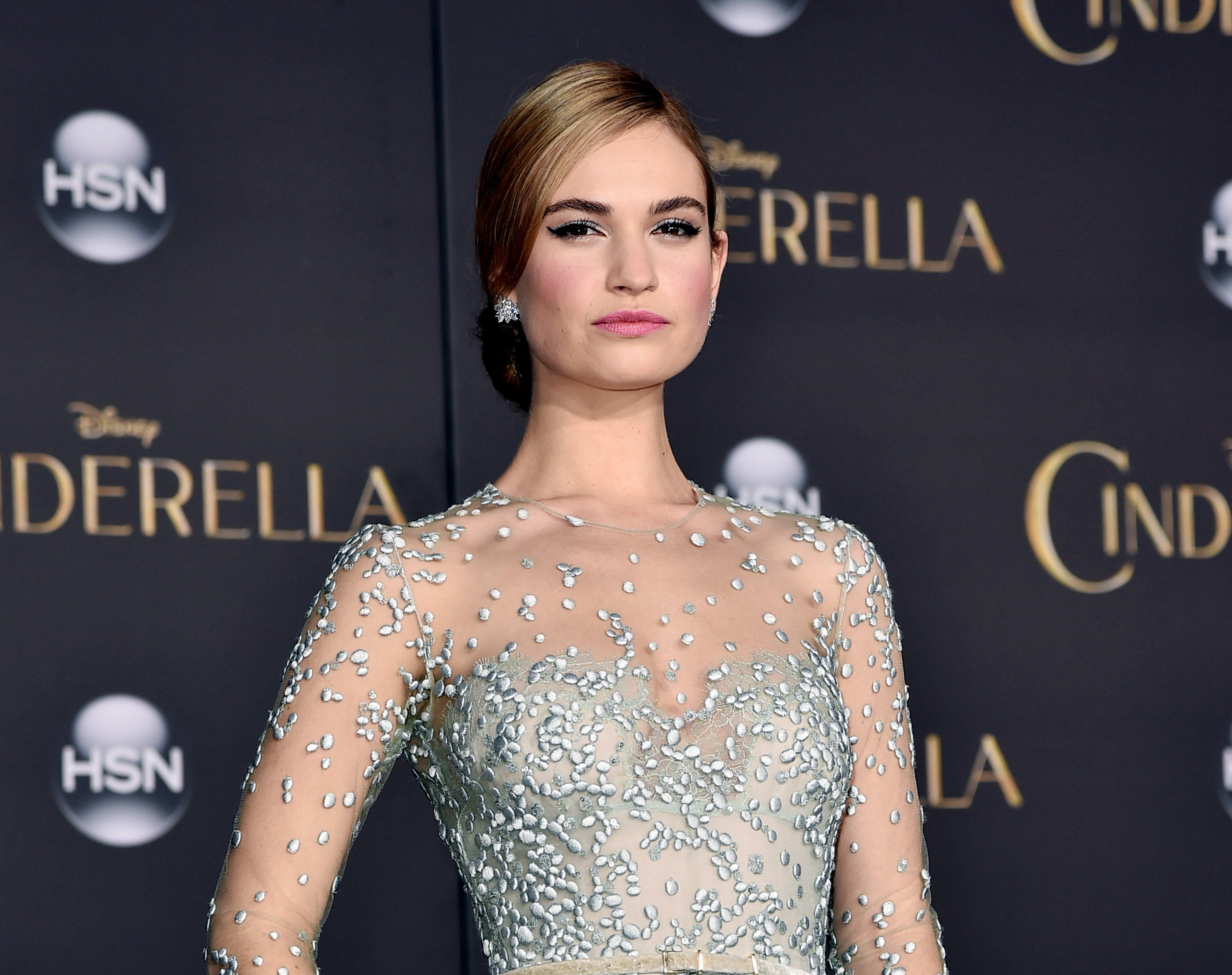 Lily James at the California premiere of