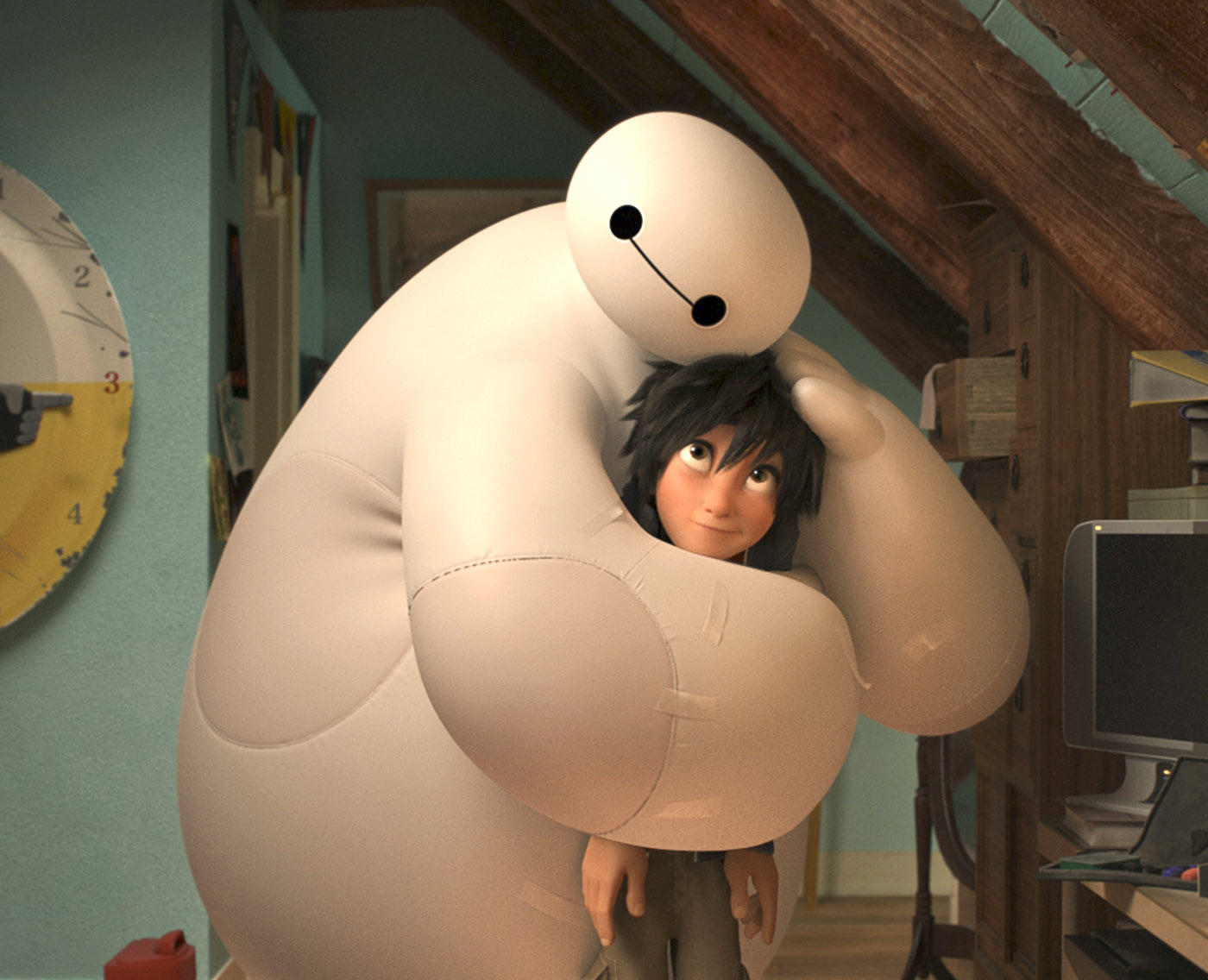 robot and hiro in big hero 6