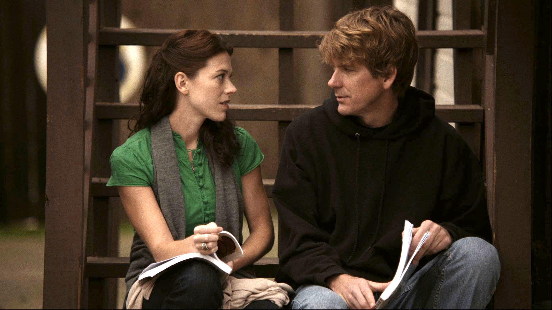 Elizabeth Roberts as Amber and Rik Swartzwelder as Clay in
