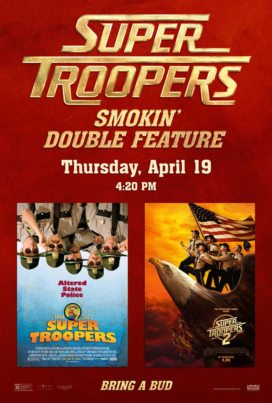 Super Troopers Double Feature poster art