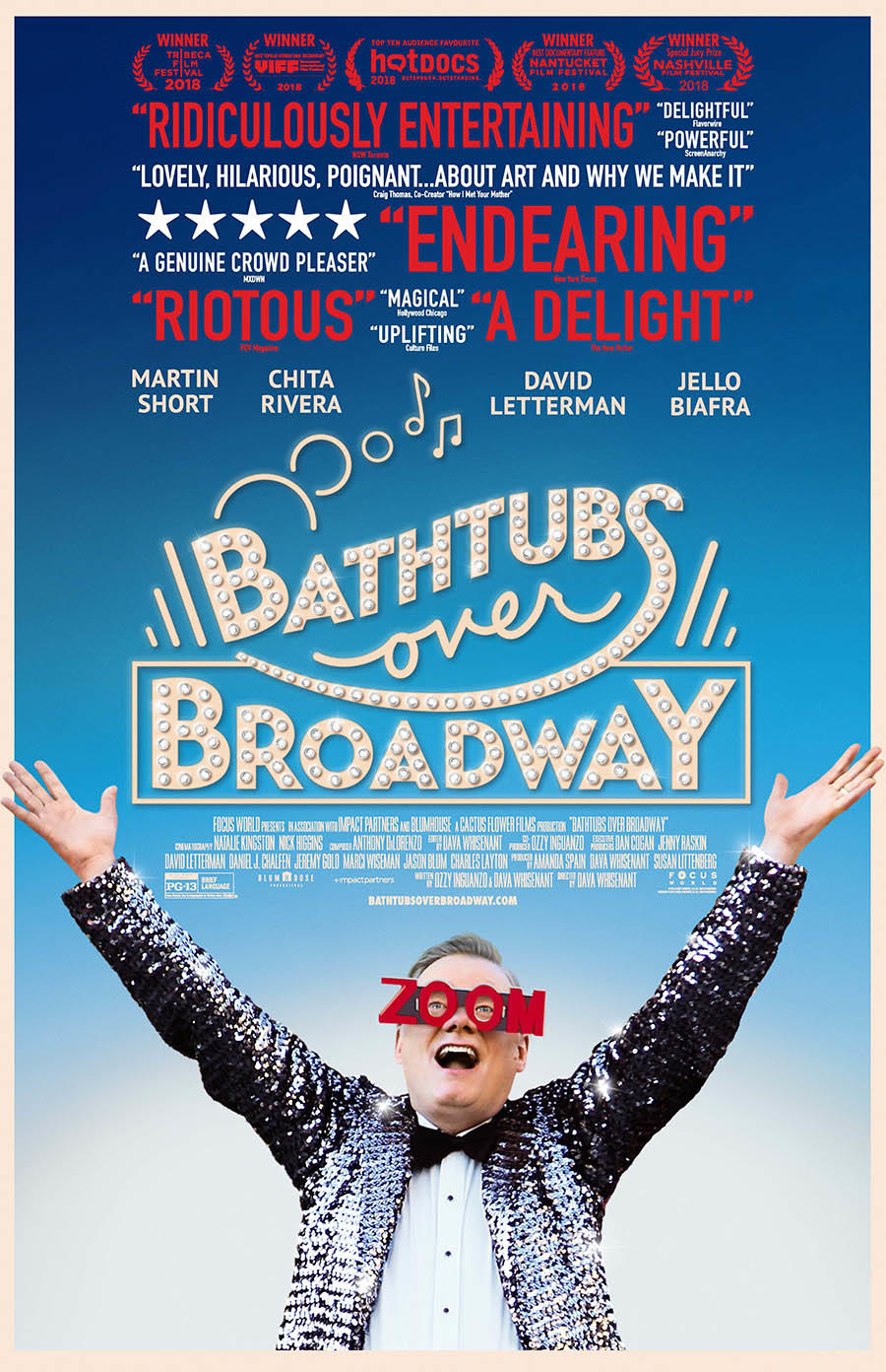 Bathtubs Over Broadway poster art