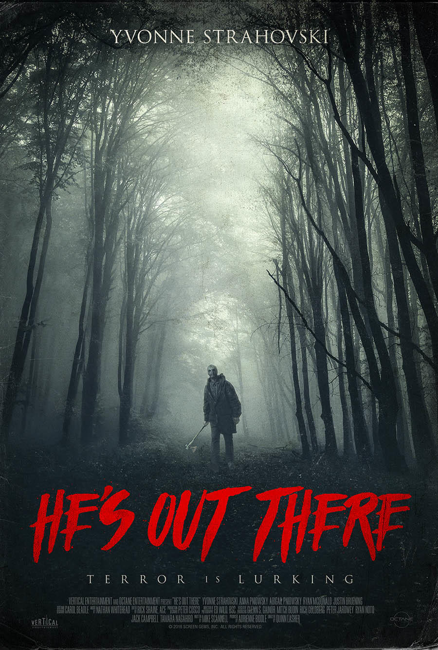 He's Out There poster art