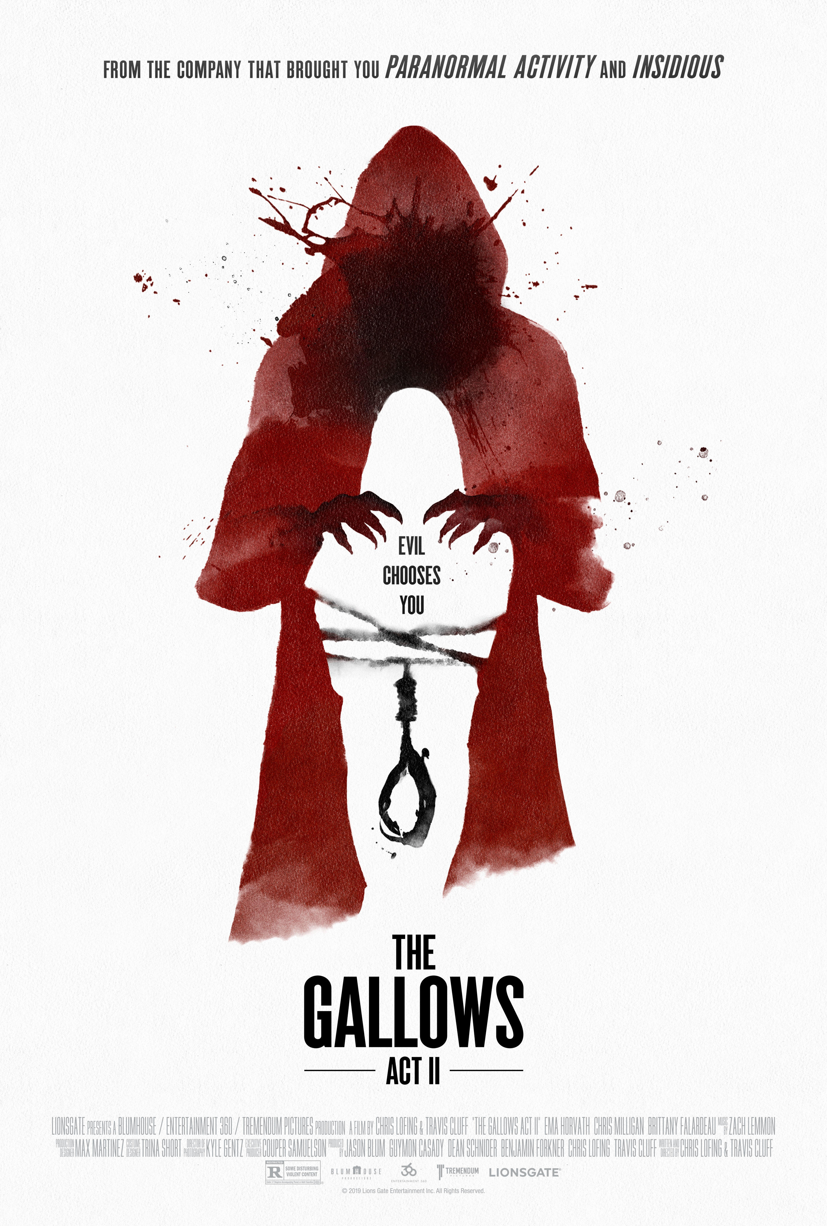The Gallows Act II poster art