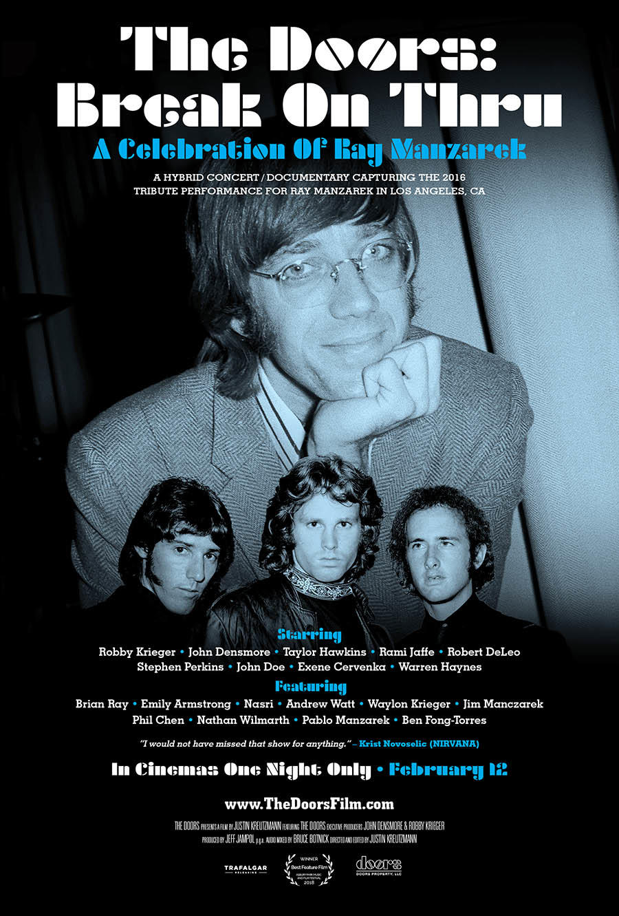 Break On Thru: A Celebration of Ray Manzarek and The Doors poster art