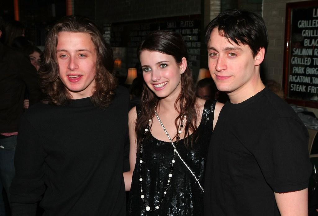 Rory Culkin, Emma Roberts and Kieran Culkin at the after party of the New York premiere of